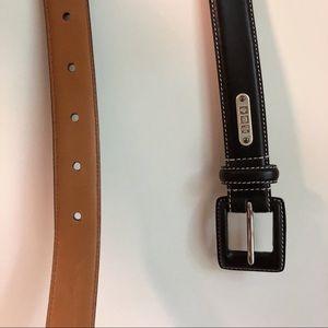 Ralph Lauren Black Italian Leather Belt